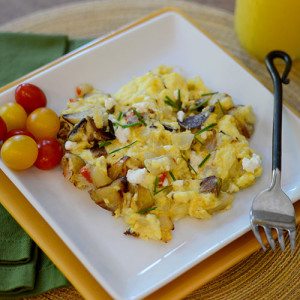 QUICK EGG & POTATO SCRAMBLE